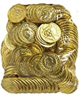 Bag of Plastic Gold Coins 144 Pieces Pirates Booty 67746