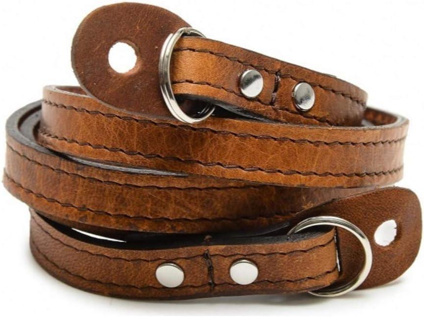 Antique Cognac Brown Handcrafted Premium Leather ONA Sevilla 40 Camera Strap