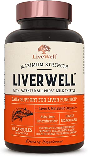 LiverWell Liver Cleanse Detox, Regeneration, Metabolic Support – Highly Biovailable Patented Milk Thistle Extract N-Acetyl Cysteine Alpha Lipoic Acid Zinc Selenium