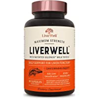 LiverWell Liver Cleanse & Detox, Regeneration, Metabolic Support - Highly Biovailable Patented Milk Thistle Extract + N…