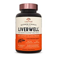 LiverWell Liver Cleanse & Detox, Regeneration, Metabolic Support - Highly Biovailable...