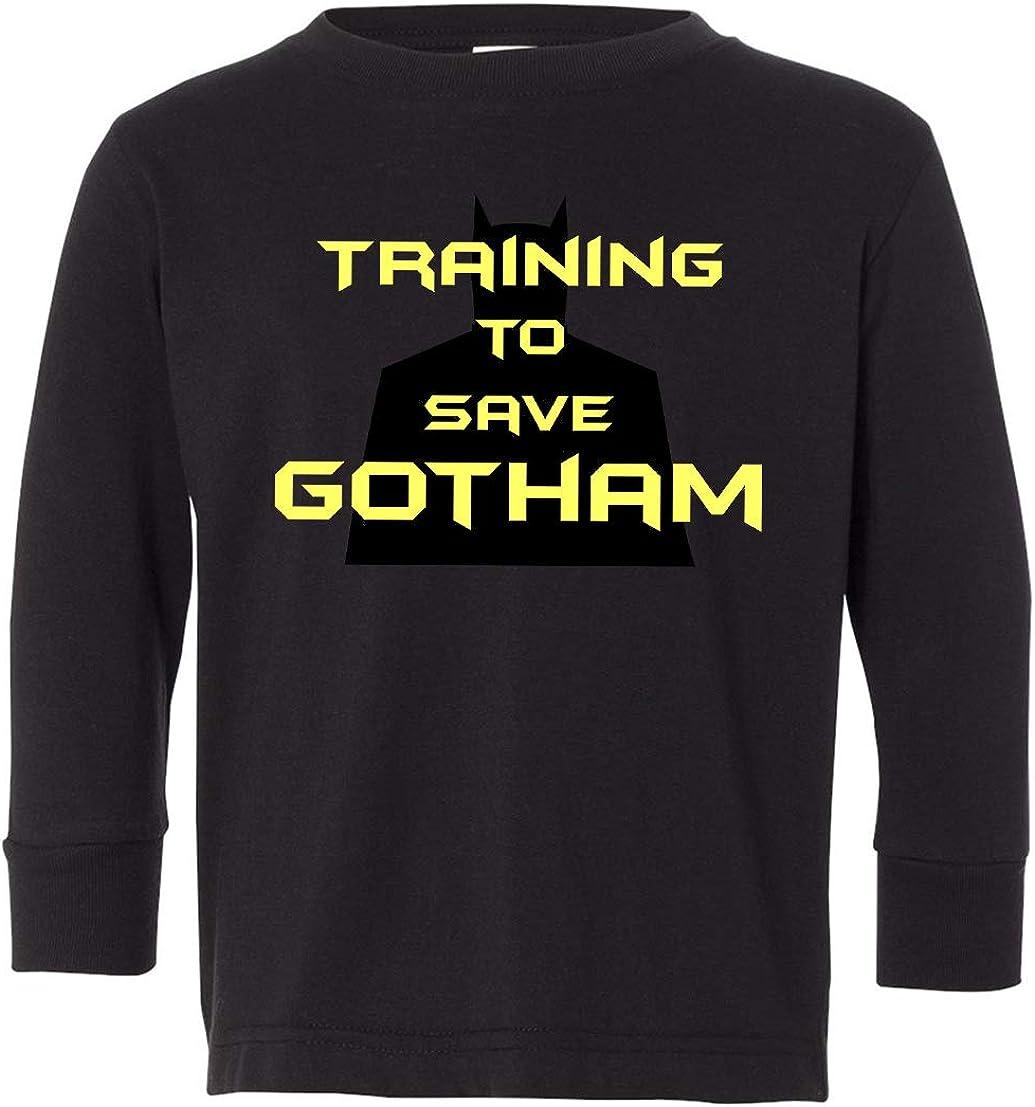 Tenacitee Toddlers Training to Save Gotham Long Sleeve T-Shirt