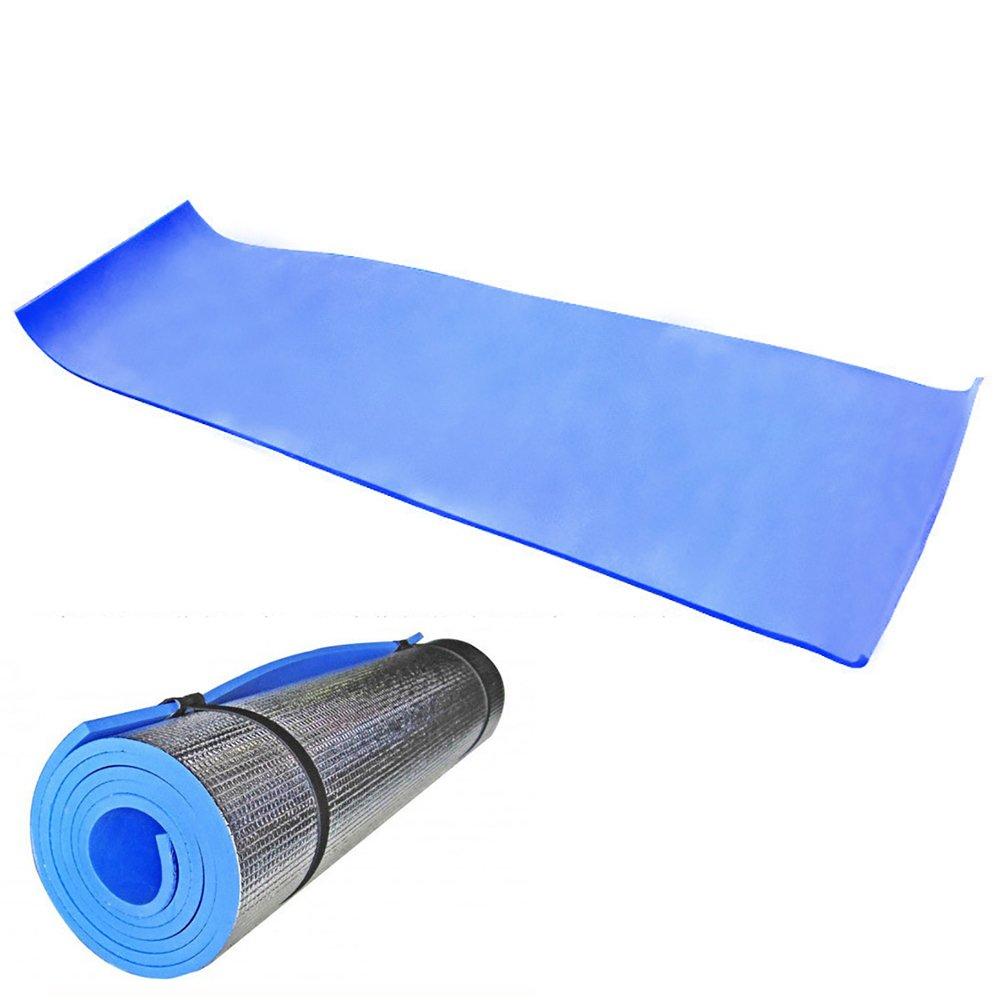 Carejoy Dampproof Camping Mat Closed Cell Foam Sleeping Pad Lightweight Aluminum Foil EVA Mat Pad Cushion Yoga Mattress