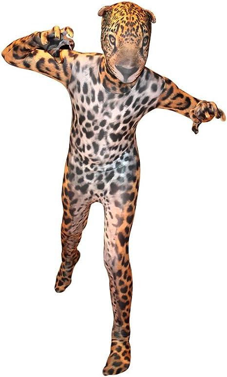 Adultos Jaguar morphsuit Animal Cat Jungle Outfit disfraz: Amazon ...