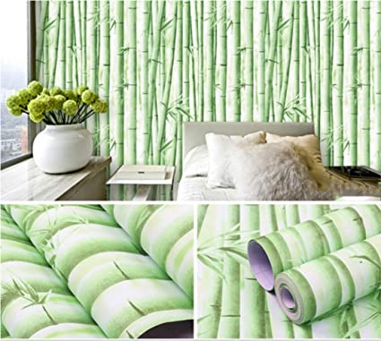 Amazon com: Green Bamboo Contact Paper self Adhesive Shelf Liner for