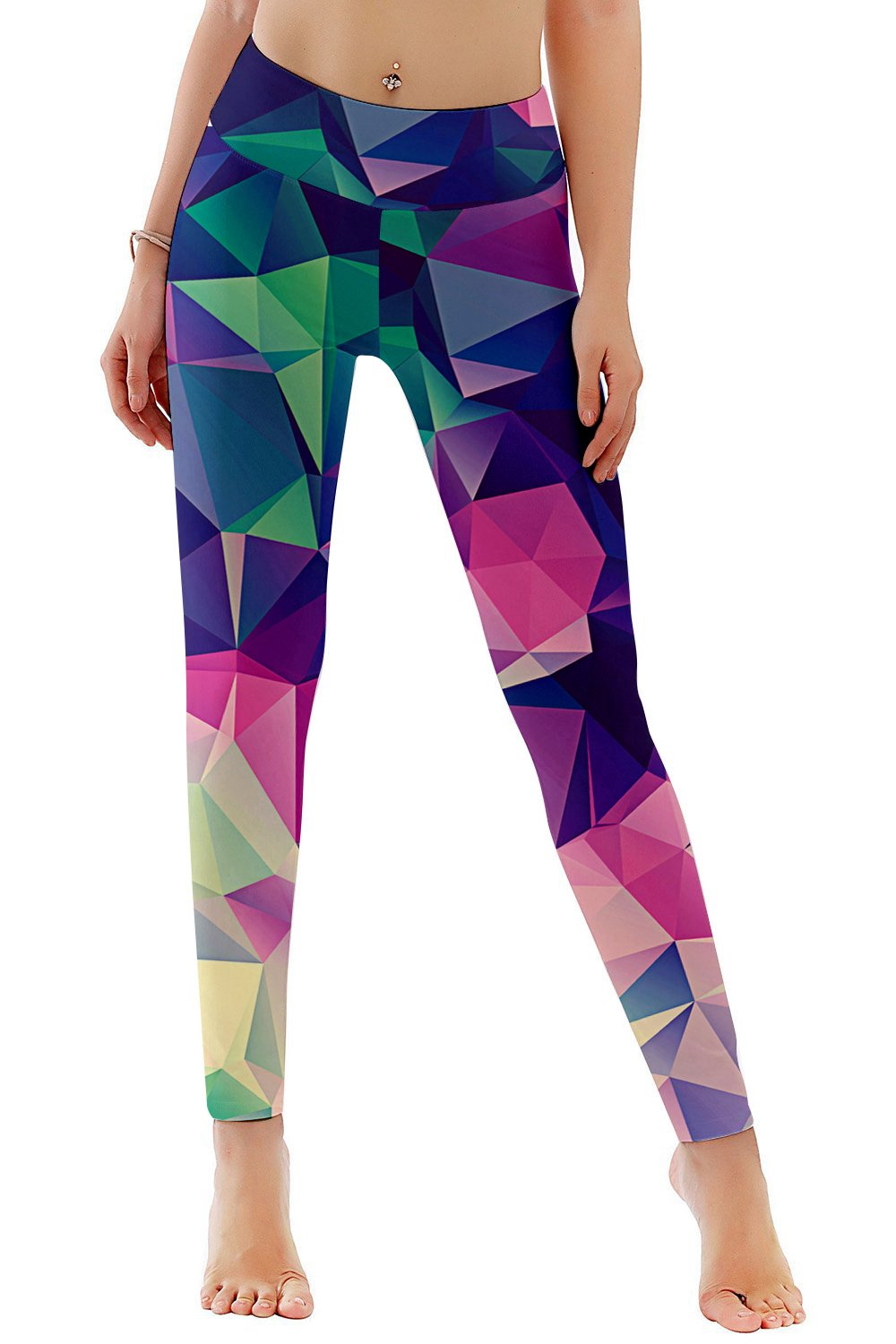 Belovecol 3D Printed Colorful Exercise Yoga Pants for Women Fashion Tights 12