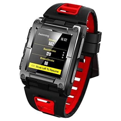 ZZJSL Reloj Inteligente Relojes Inteligentes Bluetooth, Relojes Inteligentes, Deportivos, De Frecuencia Cardíaca,