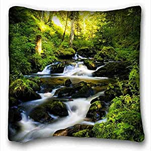 Generic Personalized Nature Custom Cotton & Polyester Soft Rectangle Pillow Case Cover 16x16 inches (One Side) suitable for King-bed