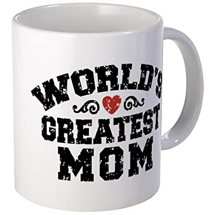 9736aa974c0 Image Unavailable. Image not available for. Color: CafePress - World's  Greatest Mom Mug - Unique Coffee ...