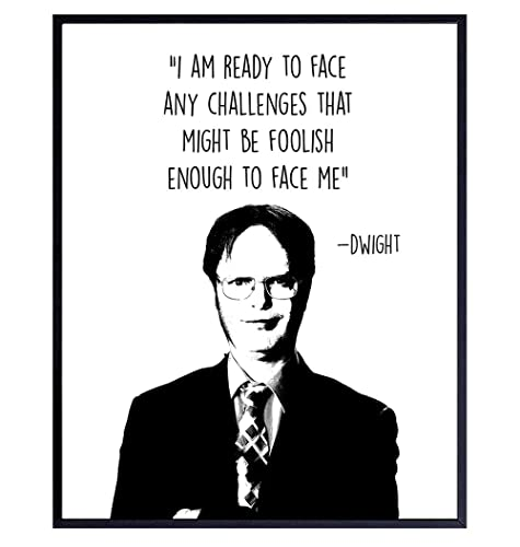 Gift for Mom Gift for Him Gift for Dad Holiday Gift Grad Gift Dwight Schrute Life Quote Art Print for Home Decor