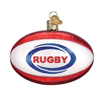 Old World Christmas Hanging Tree Ornament, Rugby Ball - Amazon.com: Old World Christmas Hanging Tree Ornament, Rugby Ball