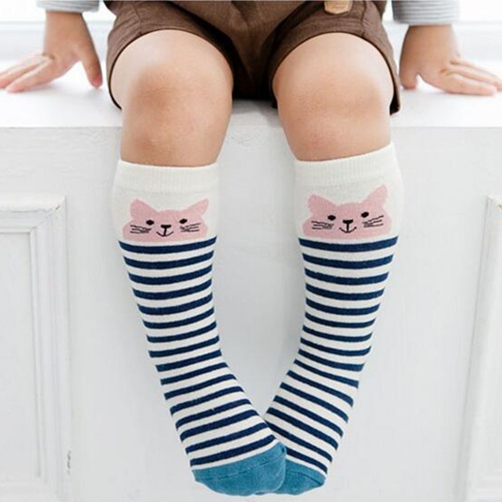 Baby Toddlers Cute Knee Socks Cartoon Breathable Cotton Socks Sweat Absorbent Casual Long Stockings