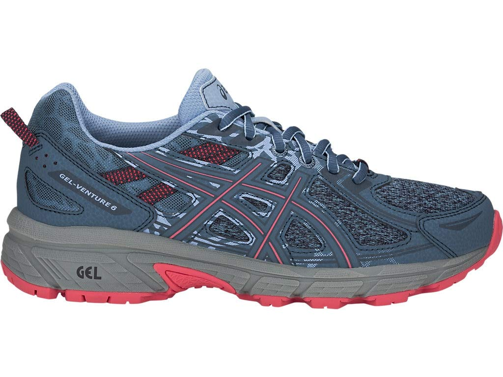 ASICS Women's Gel-Venture 6 MX Running Shoes, 11.5M, Steel Blue/Pink Cameo by ASICS