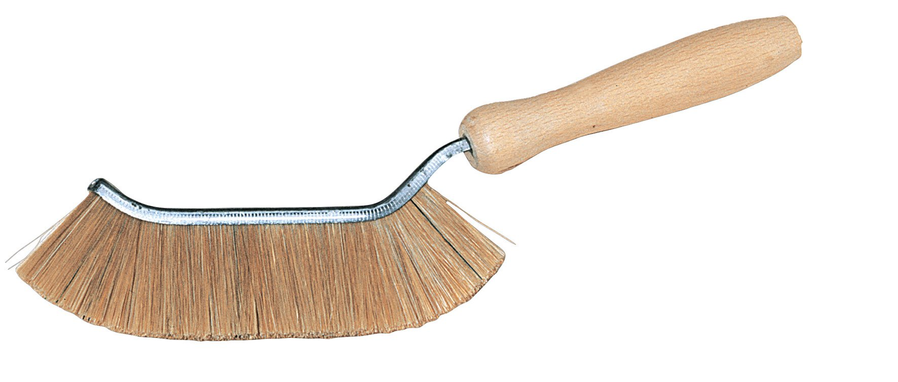 Redecker Natural Pig Bristle Edge Brush with Untreated Beechwood Handle, 5-1/8-Inches