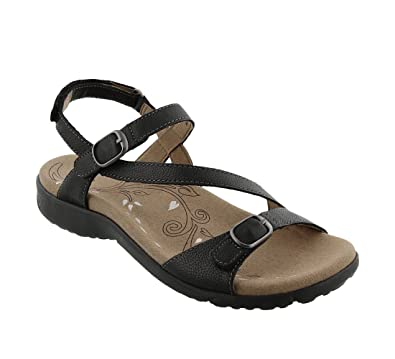 Taos Footwear Women's Beauty Black Sandal 6 B (M) US