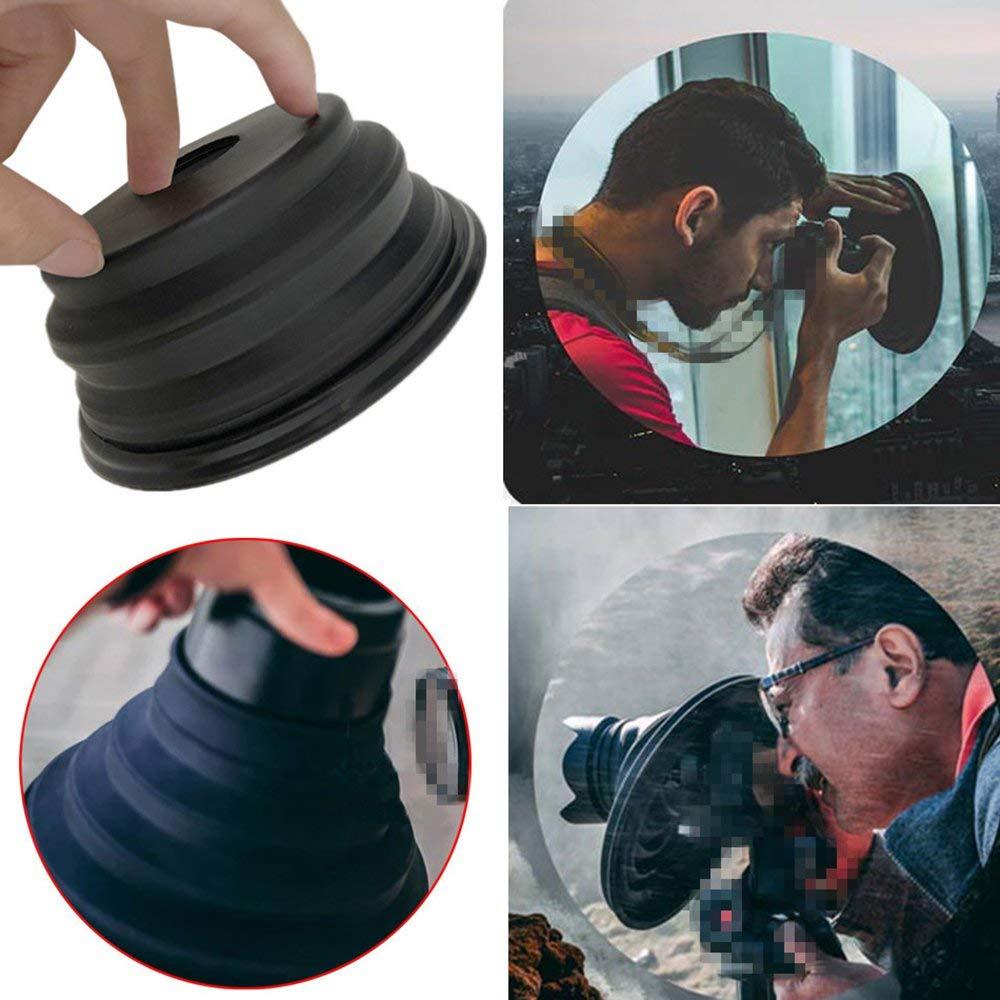 RoadRoma The Ultimate Lens Hood Antirreflectante Silicona Plegable Grabaci/ón de im/ágenes Negro