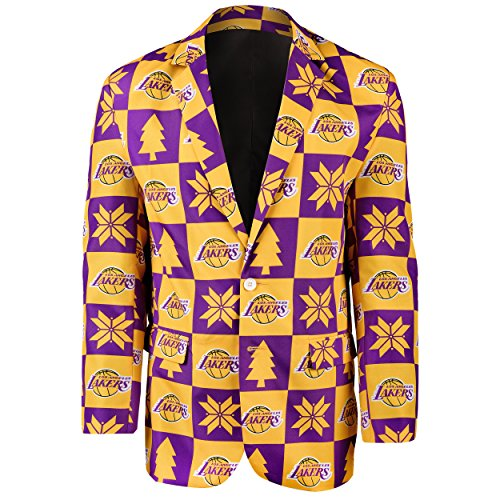 ers Patches Ugly Business Jacket - Mens Size 46 (Lakers Jackets)