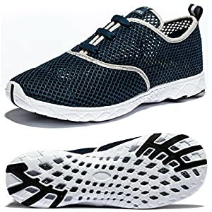 VIIHAHN Mens Water Shoes Beach Barefoot Aqua Wetsuits For Water Sports Snorkeling Diving Swimming Surfing Size 11 US Navy