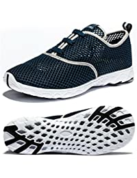 Mens Water Shoes Beach Barefoot Aqua Wetsuits for Water...