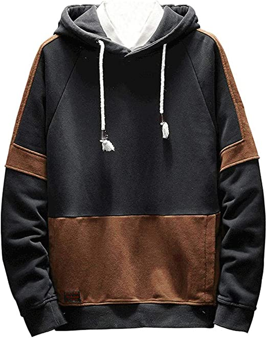 Tryist Mens Short Sleve Loose Plus-Size Pullover Hooded Pullover Sweatshirt