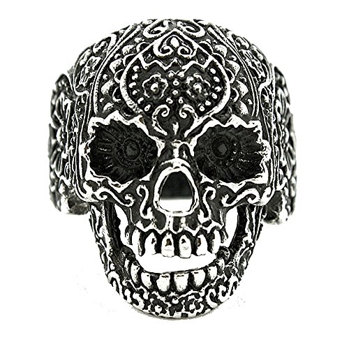 Sons Of Anarchy Halloween Costume (Stainless Steel Halloween Sugar Skull Day of the Dead Ring (See Listing for Sizes))