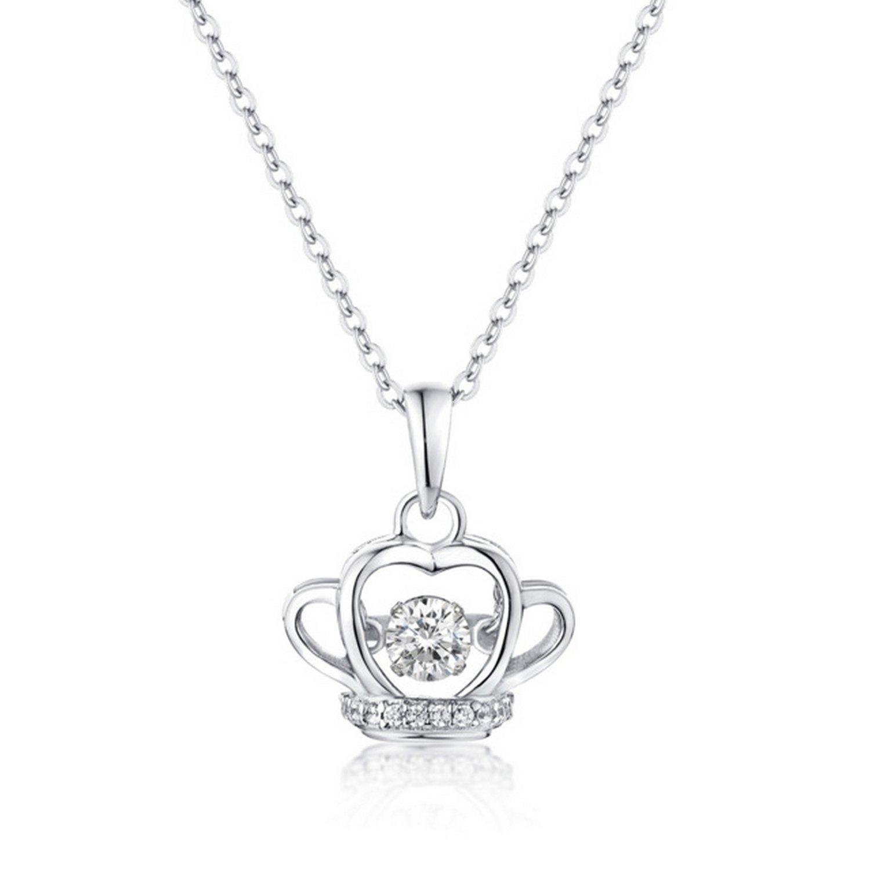 CS-DB Pendants Crown Stone Silver Necklaces