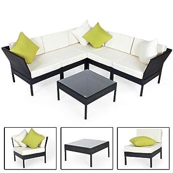 Amazon.de: TecTake Hochwertige Aluminium Luxus Lounge Rattanlounge ...