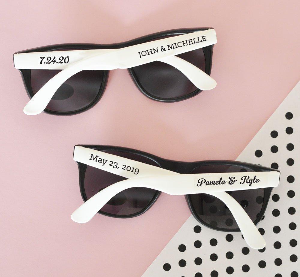 Amazon.com: Set of 24 Personalized Wedding Sunglasses Party Favors ...