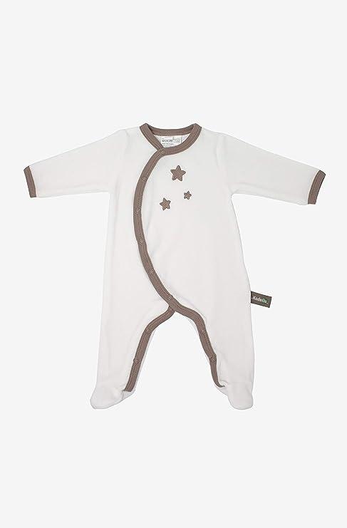 Kadolis Pijama de bebé en algodón orgánico Blanco con Estampado de Estrellas Beis 18 Meses: Amazon.es: Bebé