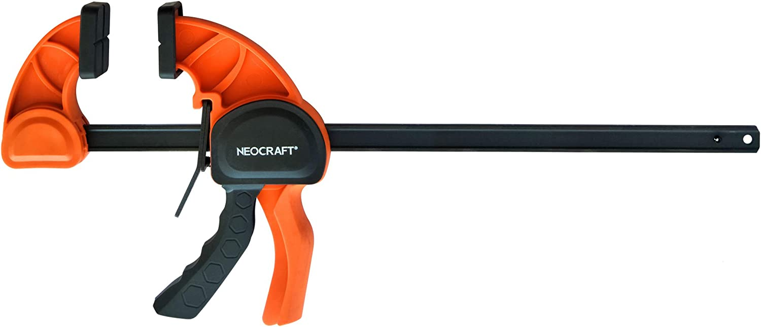 Heavy Duty Bar Clamp for Woodworking (30 inches) - Quick Grip Adjustable Handi-Clamp for Carpentry - Ratchet Bar Clamp for Furniture Assembling & Manufacturing by Neocraft