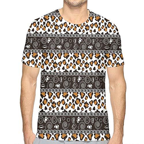 3D Printed T Shirts,African Cheetah Pattern with Circles Spiral Exotic Fur Zoo Safari Image (Inc Cheetah Bedding)