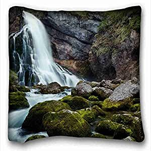Soft Pillow Case Cover Nature Custom Cotton & Polyester Soft Rectangle Pillow Case Cover 16x16 inches (One Side) suitable for X-Long Twin-bed