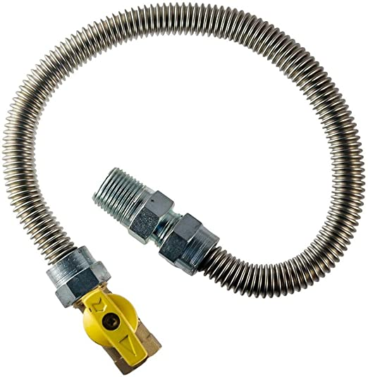 Supplying Demand 203-3132 Dryer Gas Hose With Fittings Compatible With 1//2 MIP x 1//2 FIP Hose Connections 4 Feet