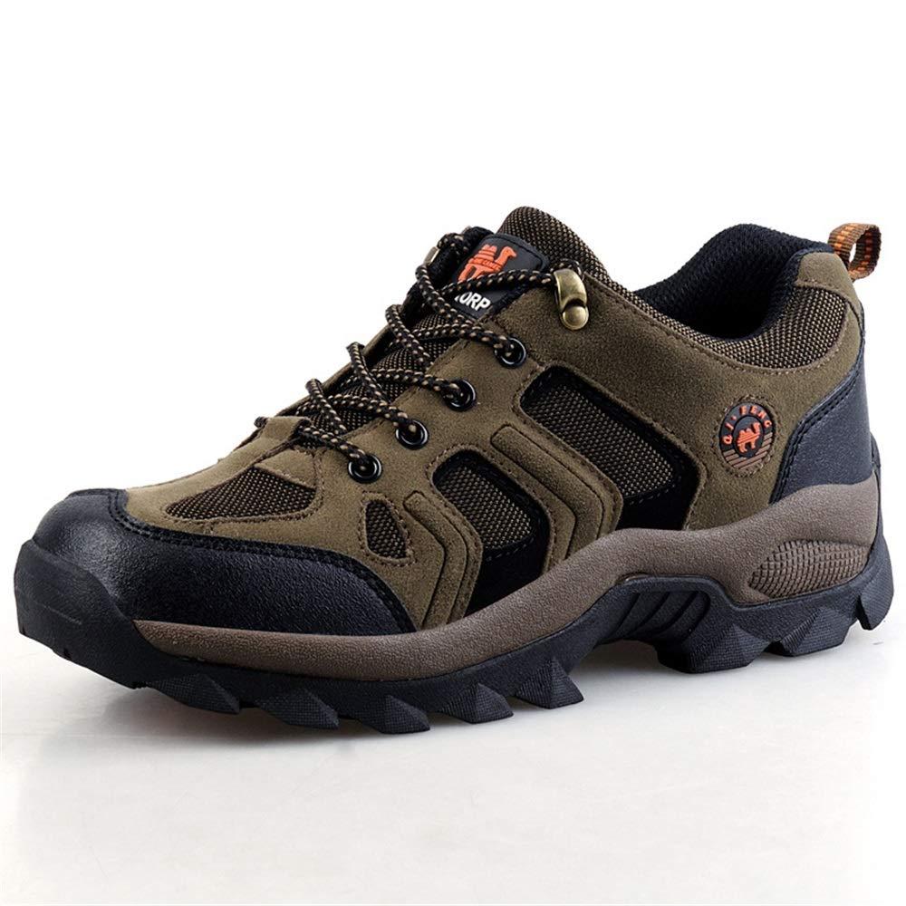 Qiusa  Herren Breathable Outdoor Wanderschuhe Punch Resistant Soft Sohle Rutschfeste Durable Schuhe (Farbe : Braun, Größe : EU 40)