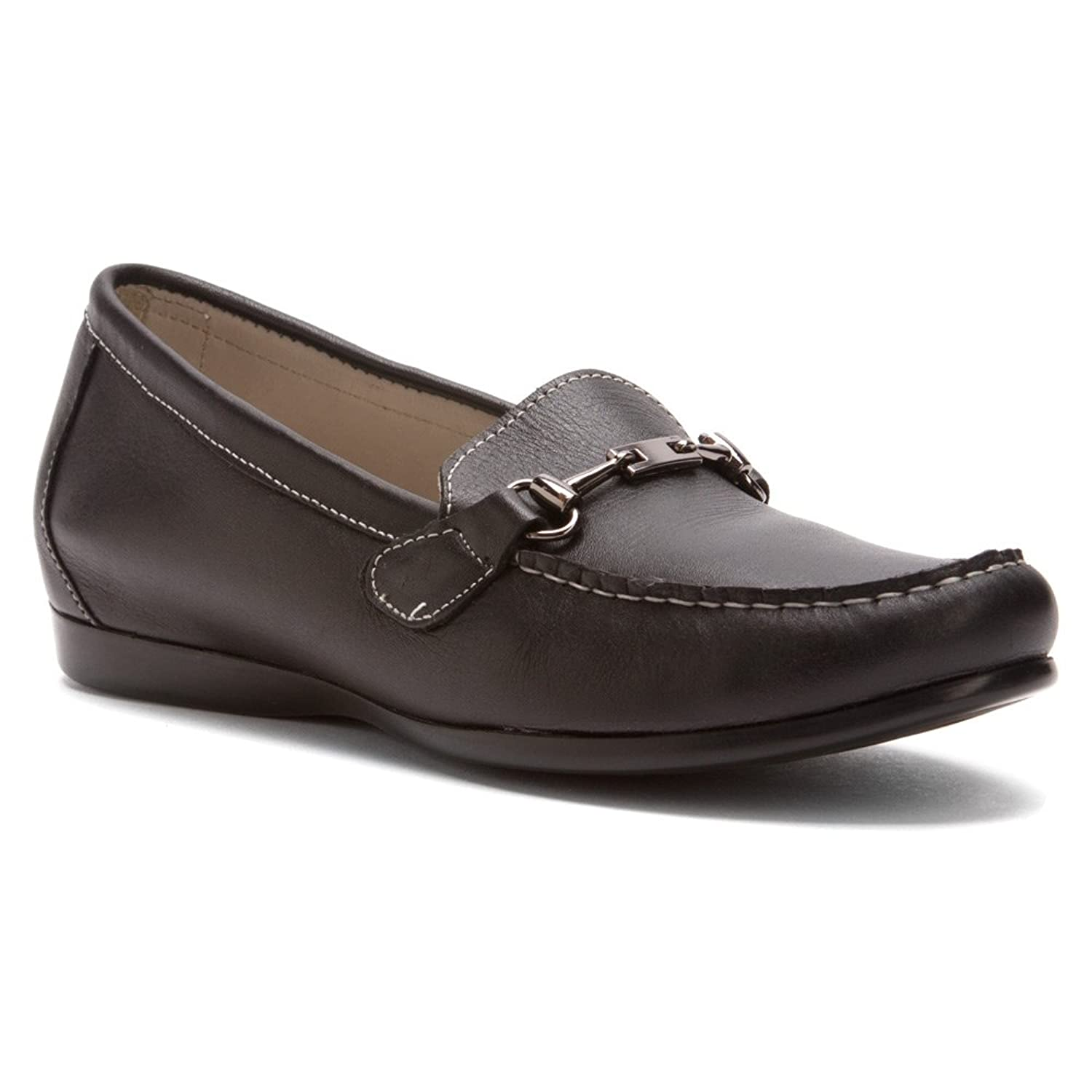 Munro American Women's Kimi Black Leather Loafer 7 SS (AAAA)