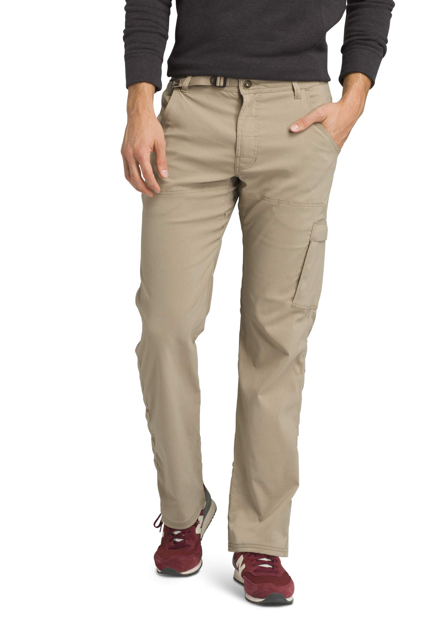 prAna - Men's Stretch Zion Lightweight, Durable, Water Repellent Pants for Hiking and Everyday Wear, 36'' Inseam, Dark Khaki, 33 by prAna
