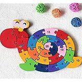 新品!動物カタツムリ  デジタル 積み木パズル   木製のおもちゃ  幼児教育用品 誕生日のプレゼント  子供パズル 知育玩具  幼児教育アプリシリーズ  知識を増すおもちゃ雑貨  木制品  zqzb0283