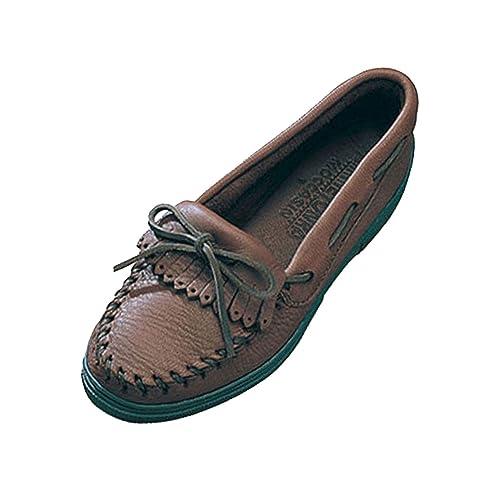 Minnetonka - Mocasines de Piel para mujer: Amazon.es: Zapatos y complementos