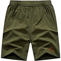 YSENTO Men's Lightweight Quick Dry Athletic Gym Workout Running Shorts Zipper Pockets