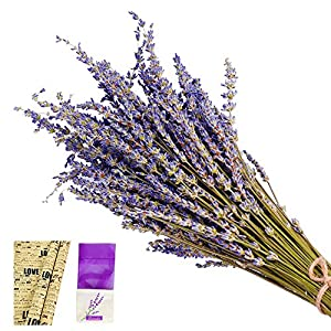 EMISH Organic Dried Lavender Flowers 101% Raw French Culinary Lavender Resealable Bag Lavender Sachet 100