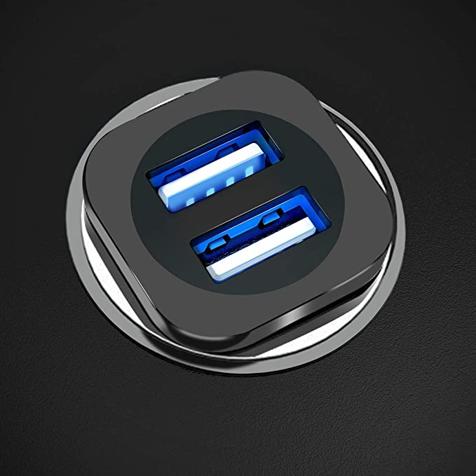 Cargador de Coche, USAMS Dual USB Puertos Cargador de Coche ...