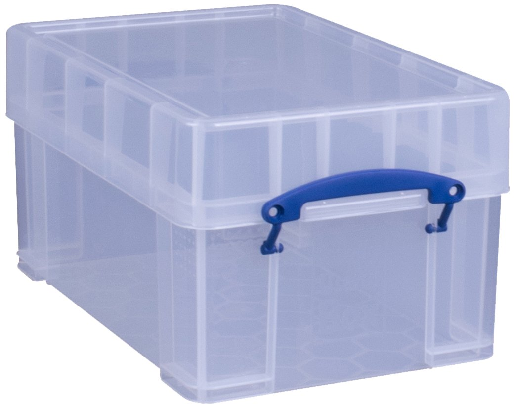 Really Useful Storage Box 9 Litre XL Clear by Really Useful Box