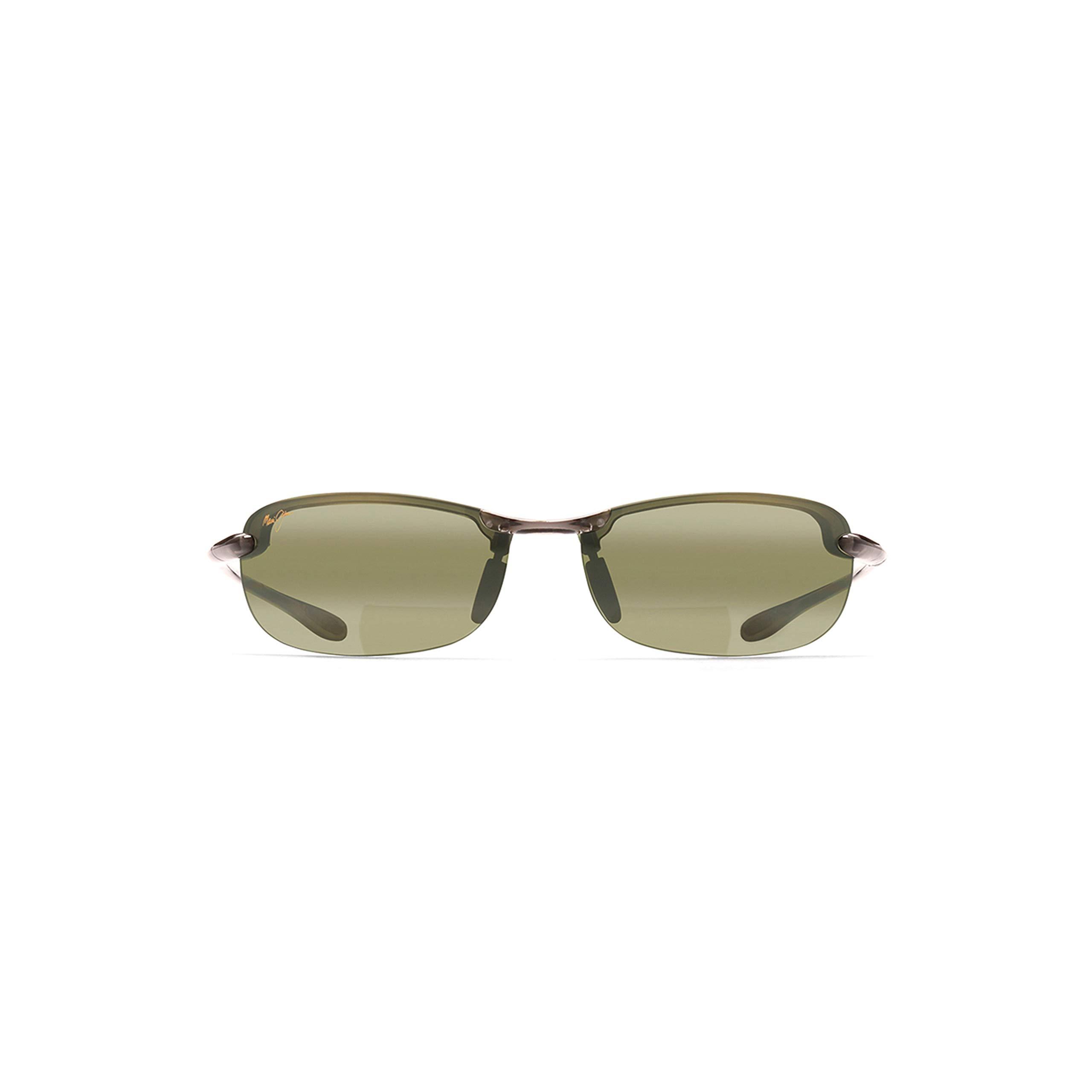 Maui Jim Makaha Reader HT805-1120 | Polarized Smoke Grey Rimless Frame Sunglasses, Maui HT Lenses, with with Patented PolarizedPlus2 Lens Technology 2 by Maui Jim