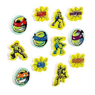 Las Tortugas Ninja - Pack de 12 gomas de borrar (Talla Única ...