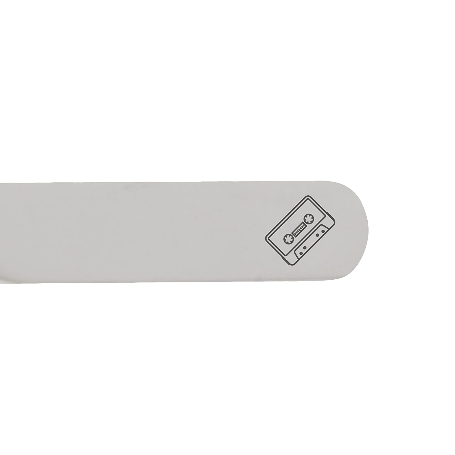 MODERN GOODS SHOP Stainless Steel Collar Stays With Laser Engraved Cassette Design Made In USA 2.5 Inch Metal Collar Stiffeners