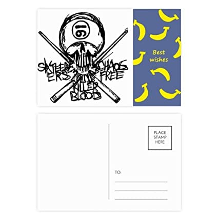 Número 16 Ninja Negro Esqueleto Espada Banana Postal Set ...