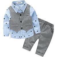 11a95339d3 Das beste Jungen Kinder Baby Gentleman Herbst Kleidung des Babys Taufe  Hochzeit Sakkos Anzüge Hemd (