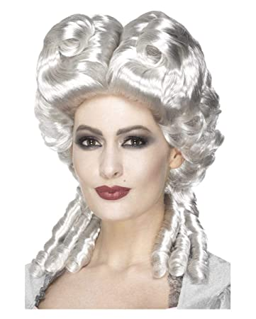 Horror Shop Herzogin Perucke Rokoko Fur Damen Weiss Blond One Size