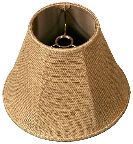 Royal Designs Deep Empire Lamp Shade,  Burlap 6 x 12 x 9.25,