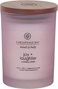 Chesapeake Bay Candle Scented Candle, Joy + Laughter (Cranberry Dahila), Medium